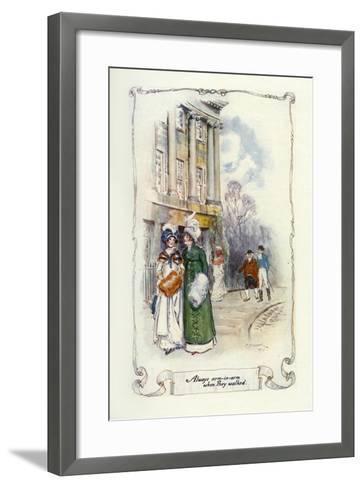 Always Arm-In-Arm When They Walked, 1907-Charles Edmund Brock-Framed Art Print