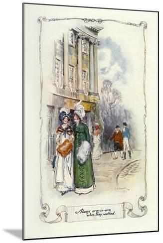 Always Arm-In-Arm When They Walked, 1907-Charles Edmund Brock-Mounted Giclee Print