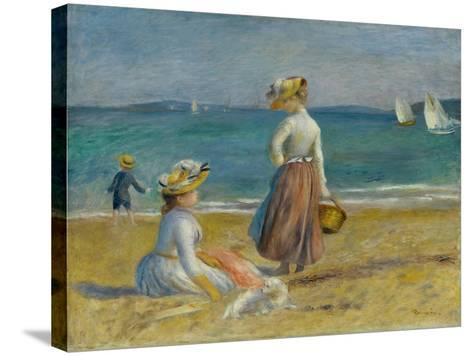Figures on the Beach, 1890-Pierre-Auguste Renoir-Stretched Canvas Print