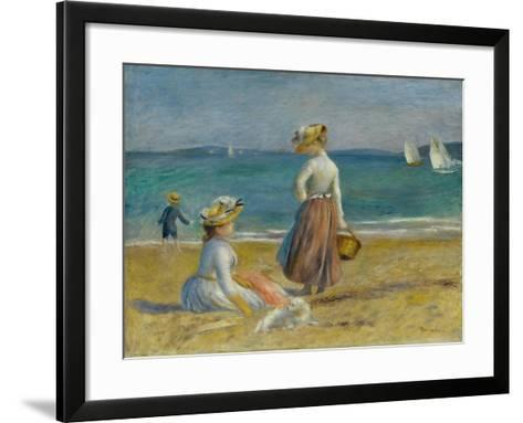 Figures on the Beach, 1890-Pierre-Auguste Renoir-Framed Art Print