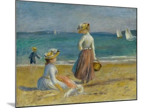Figures on the Beach, 1890-Pierre-Auguste Renoir-Mounted Giclee Print