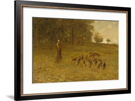 Girl with Turkeys, 1883-84-George Fuller-Framed Art Print