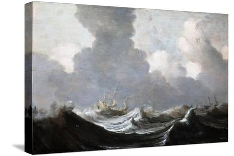 Four Vessels Running Before a Gale, 1630-Pieter the Elder Mulier-Stretched Canvas Print
