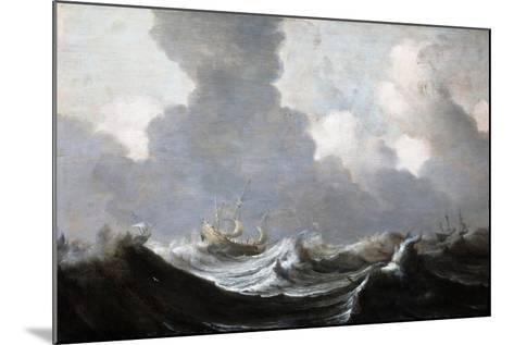 Four Vessels Running Before a Gale, 1630-Pieter the Elder Mulier-Mounted Giclee Print