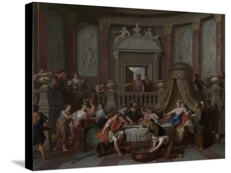 The Banquet of Cleopatra, c.1700-Gerard Hoet-Stretched Canvas Print