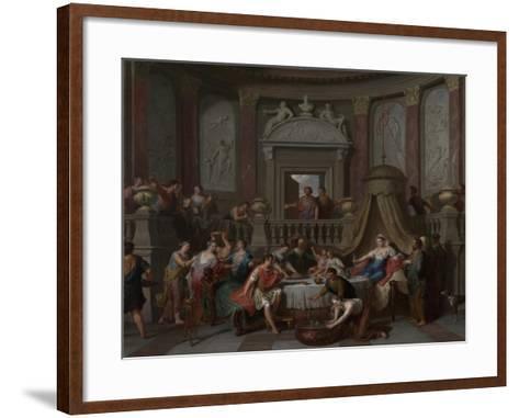The Banquet of Cleopatra, c.1700-Gerard Hoet-Framed Art Print
