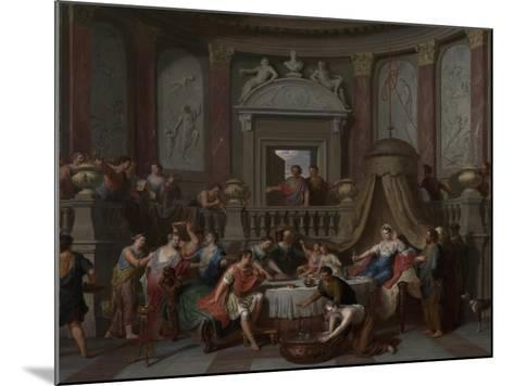 The Banquet of Cleopatra, c.1700-Gerard Hoet-Mounted Giclee Print