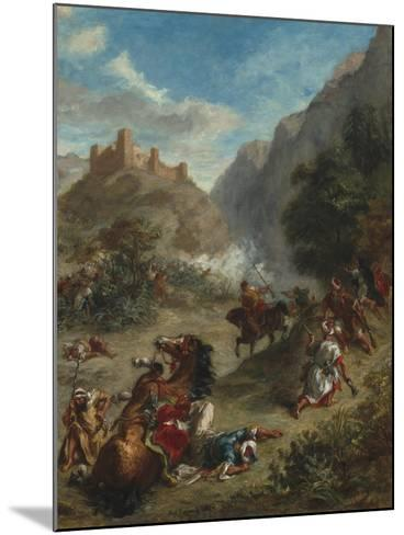 Arabs Skirmishing in the Mountains, 1863-Eugene Delacroix-Mounted Giclee Print