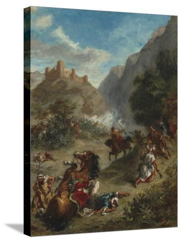 Arabs Skirmishing in the Mountains, 1863-Eugene Delacroix-Stretched Canvas Print