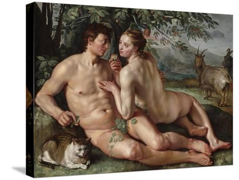 The Fall of Man, 1616-Hendrik Goltzius-Stretched Canvas Print