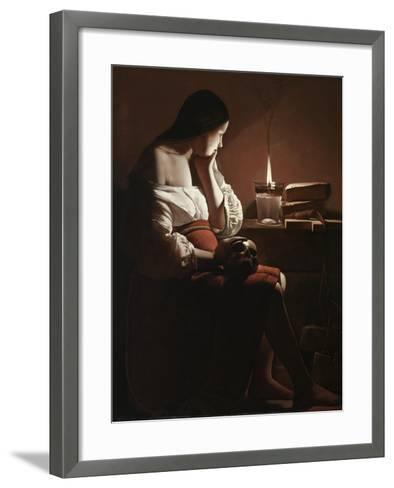 The Magdalen with the Smoking Flame, c.1638-40-Georges de la Tour-Framed Art Print