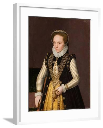 Portrait of an Unknown French Nobleman, 1560-9-French School-Framed Art Print