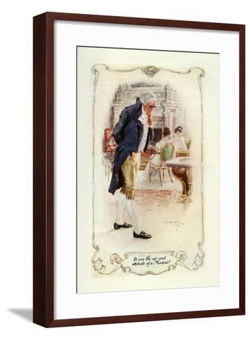 It Was the Air and Attitude of a Montoni, 1907-Charles Edmund Brock-Framed Art Print