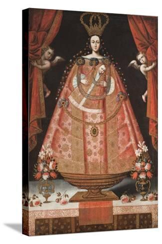 Virgin of Belén (Virgen de Belén), c.1700-1720-Cuzco School-Stretched Canvas Print