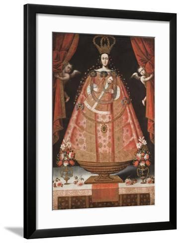 Virgin of Belén (Virgen de Belén), c.1700-1720-Cuzco School-Framed Art Print
