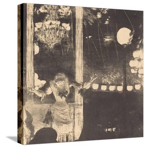 Mademoiselle Becat at the Cafe des Ambassadeurs, c.1877-Edgar Degas-Stretched Canvas Print