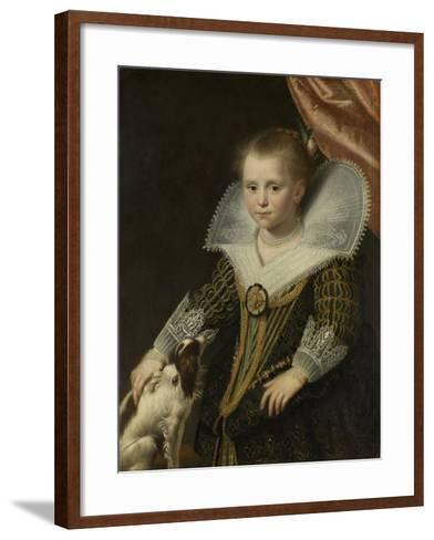 Portrait of a Girl, Known as 'The Little Pincess', 1623-Paulus Moreelse-Framed Art Print