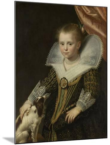 Portrait of a Girl, Known as 'The Little Pincess', 1623-Paulus Moreelse-Mounted Giclee Print