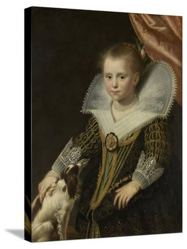 Portrait of a Girl, Known as 'The Little Pincess', 1623-Paulus Moreelse-Stretched Canvas Print