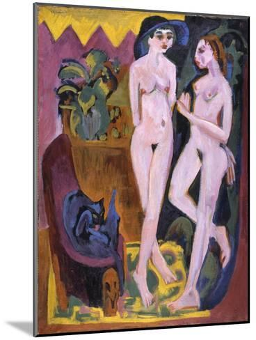 Two Nudes in a Room, 1914-Ernst Ludwig Kirchner-Mounted Giclee Print