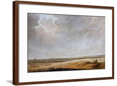 Landscape with Cornfields, 1638-Salomon van Ruisdael or Ruysdael-Framed Art Print