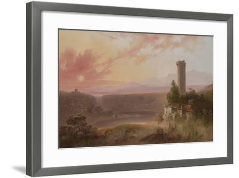 View of Lake Nemi at Sunset, c.1840-50-Joshua Shaw-Framed Art Print