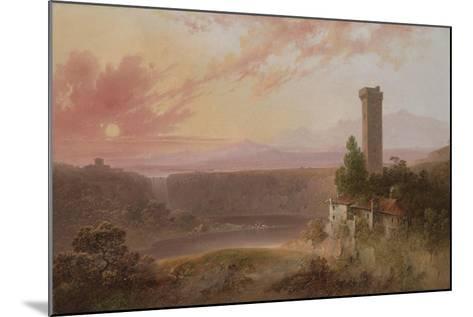 View of Lake Nemi at Sunset, c.1840-50-Joshua Shaw-Mounted Giclee Print
