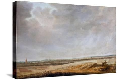 Landscape with Cornfields, 1638-Salomon van Ruisdael or Ruysdael-Stretched Canvas Print