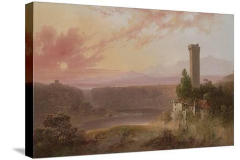 View of Lake Nemi at Sunset, c.1840-50-Joshua Shaw-Stretched Canvas Print