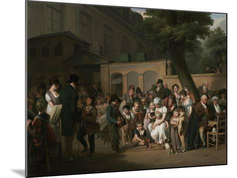 Entrance to the Jardin Turc, 1812-Louis Leopold Boilly-Mounted Giclee Print