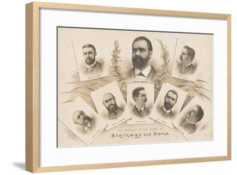 The members of the House of Steinway and Sons, 1890-American School-Framed Art Print