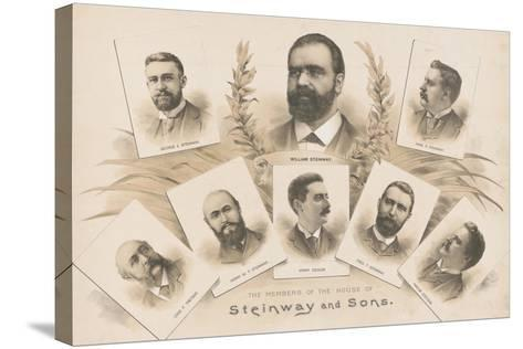 The members of the House of Steinway and Sons, 1890-American School-Stretched Canvas Print