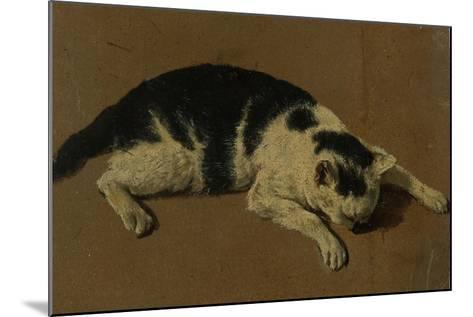 Cat lying down-Adriaen van de Velde-Mounted Giclee Print