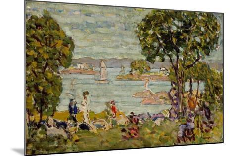Cove, Maine, c.1907-10-Maurice Brazil Prendergast-Mounted Giclee Print