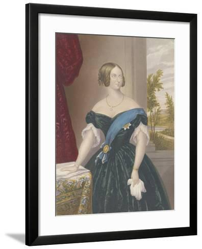 Queen Victoria, c.1860-George Baxter-Framed Art Print