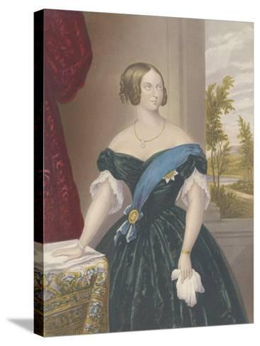 Queen Victoria, c.1860-George Baxter-Stretched Canvas Print