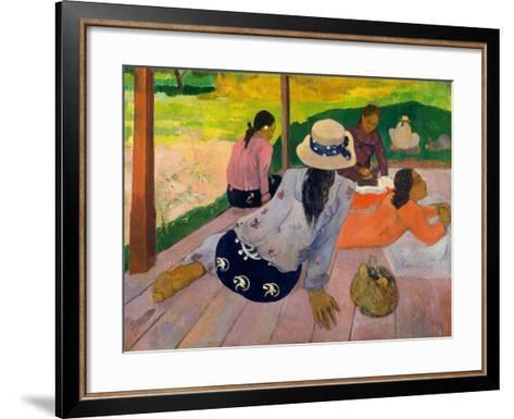 The Siesta, c.1892-94-Paul Gauguin-Framed Art Print