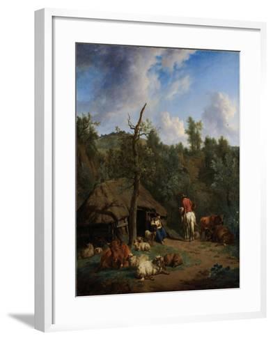 The Hut, 1671-Adriaen van de Velde-Framed Art Print