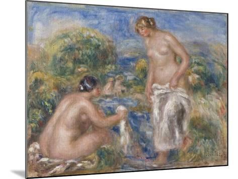 Bathing Women-Pierre-Auguste Renoir-Mounted Giclee Print