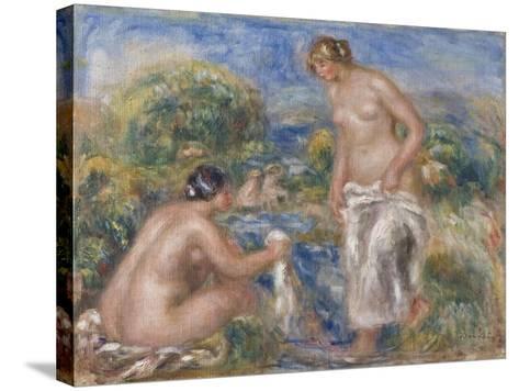 Bathing Women-Pierre-Auguste Renoir-Stretched Canvas Print