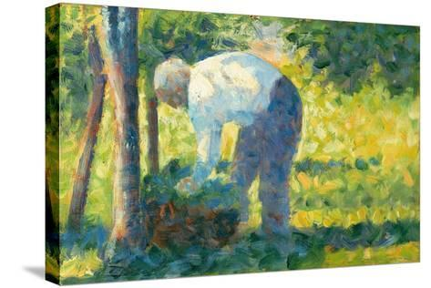 The Gardener, 1882-83-Georges Pierre Seurat-Stretched Canvas Print
