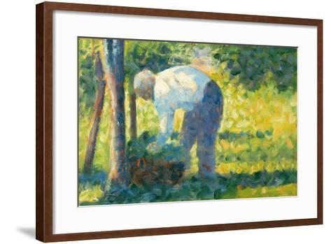The Gardener, 1882-83-Georges Pierre Seurat-Framed Art Print