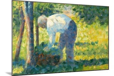 The Gardener, 1882-83-Georges Pierre Seurat-Mounted Giclee Print