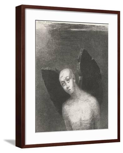 The Fallen Angel, 1886-Odilon Redon-Framed Art Print