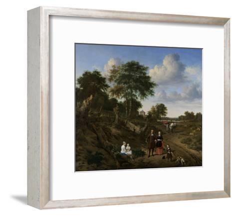 Couple in a Landscape, 1667-Adriaen van de Velde-Framed Art Print