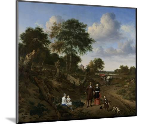 Couple in a Landscape, 1667-Adriaen van de Velde-Mounted Giclee Print