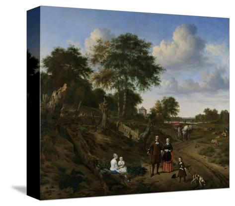 Couple in a Landscape, 1667-Adriaen van de Velde-Stretched Canvas Print