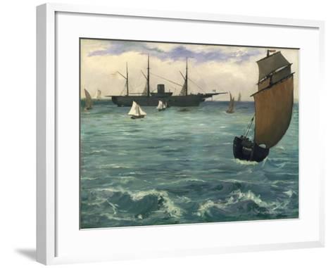 "The ""Kearsarge"" at Boulogne, 1864-Edouard Manet-Framed Art Print"