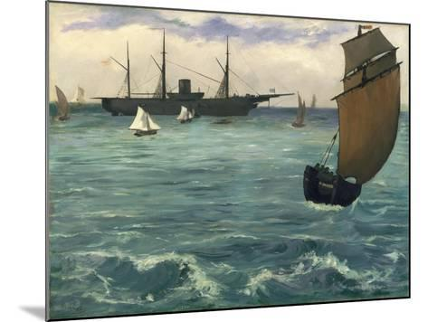 """The """"Kearsarge"""" at Boulogne, 1864-Edouard Manet-Mounted Giclee Print"""