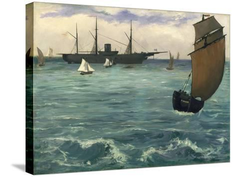 """The """"Kearsarge"""" at Boulogne, 1864-Edouard Manet-Stretched Canvas Print"""